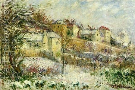 L'Hermitage in Pontoise by Gustave Loiseau - Reproduction Oil Painting