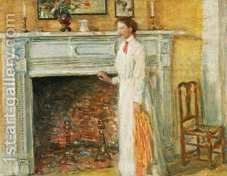The Mantle Piece by Frederick Childe Hassam - Reproduction Oil Painting