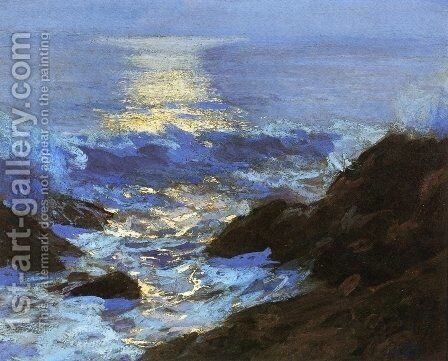 Seascape Moonlight by Edward Henry Potthast - Reproduction Oil Painting