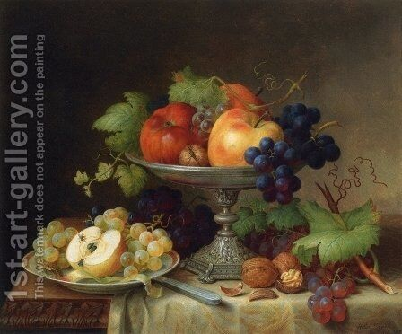 Still Life with Fruit by Helen R. Searle - Reproduction Oil Painting