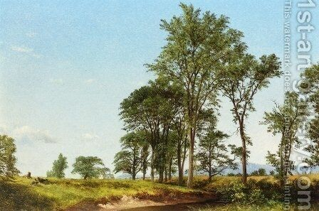 Young Elms by David Johnson - Reproduction Oil Painting