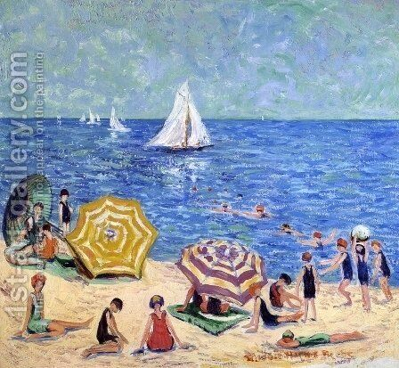 Oak Street Beach by Minnie Harms Neebe - Reproduction Oil Painting