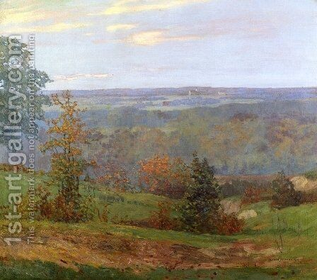 Fall Landscape by Alfred Jansson - Reproduction Oil Painting