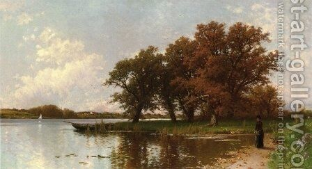 Early Autumn on Long Island by Alfred Thompson Bricher - Reproduction Oil Painting