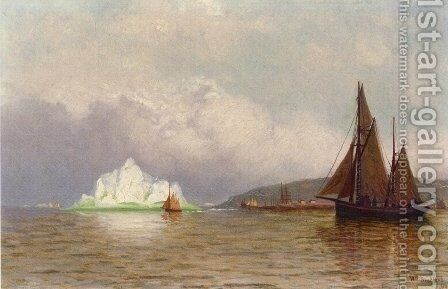 Labrador Fishing Settlement by William Bradford - Reproduction Oil Painting