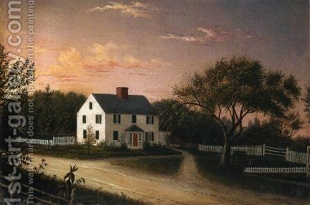 Blood Family Homestead by Mary Blood Mellen - Reproduction Oil Painting