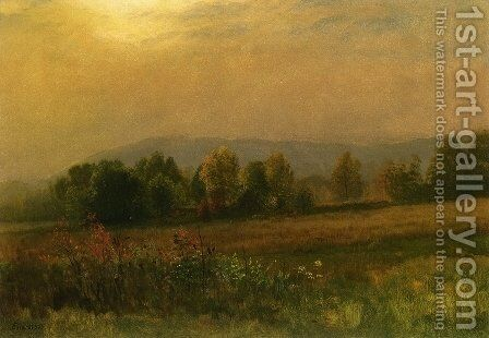 New England Landscape by Albert Bierstadt - Reproduction Oil Painting