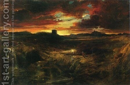 Childe Roland to the Dark Tower Came by Thomas Moran - Reproduction Oil Painting