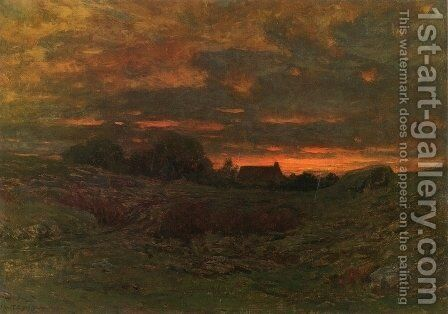 End of Day by Dwight William Tryon - Reproduction Oil Painting