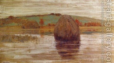Flood Tide, Ipswich Marshes, Massachusetts by Arthur Wesley Dow - Reproduction Oil Painting