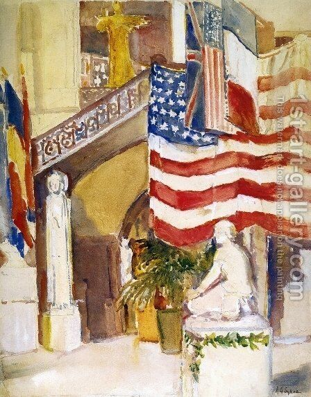 Art Museum, Cincinnati by Annie Gooding Sykes - Reproduction Oil Painting