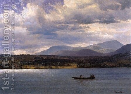 Overlook Mountain from Olana by Albert Bierstadt - Reproduction Oil Painting