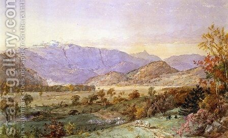 Early Snow on Mount Washington by Jasper Francis Cropsey - Reproduction Oil Painting