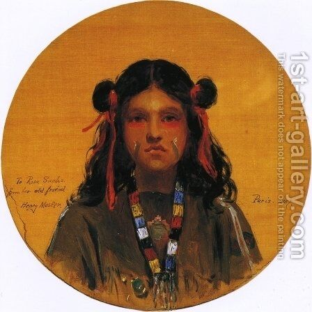 Young Indian Woman by Henry Mosler - Reproduction Oil Painting