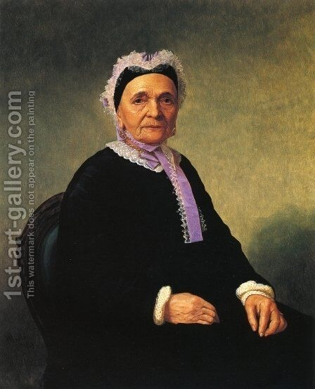 Portrait of a Rabbi's Wife (Ktherine Schiff Illowy?) by Henry Mosler - Reproduction Oil Painting