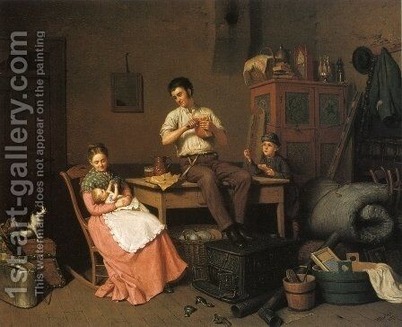 Just Moved by Henry Mosler - Reproduction Oil Painting