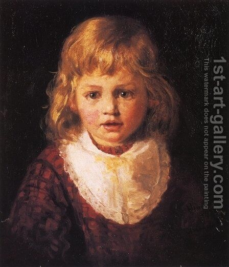 Heidi by Henry Mosler - Reproduction Oil Painting