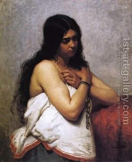 Quadroon Girl by Henry Mosler - Reproduction Oil Painting
