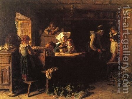 Morning by Henry Mosler - Reproduction Oil Painting