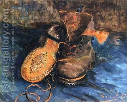A Pair of Shoes I by Vincent Van Gogh - Reproduction Oil Painting