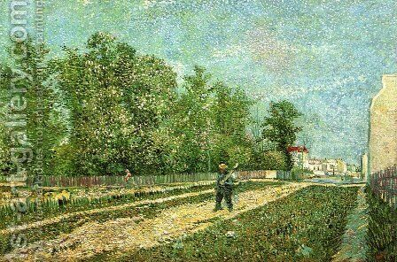 Man with Spade in a Suburb of Paris by Vincent Van Gogh - Reproduction Oil Painting