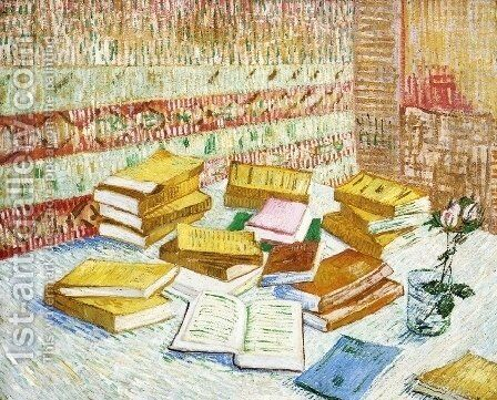 "Still Life with Books, ""Romans Parisiens"" by Vincent Van Gogh - Reproduction Oil Painting"