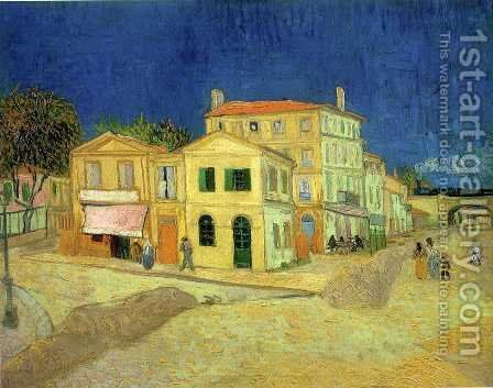 The Street, the Yellow House by Vincent Van Gogh - Reproduction Oil Painting