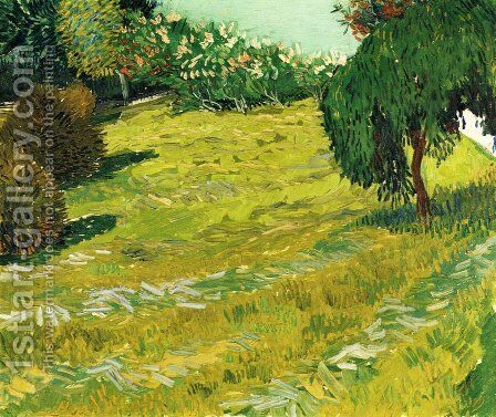 Garden with Weeping Willow by Vincent Van Gogh - Reproduction Oil Painting