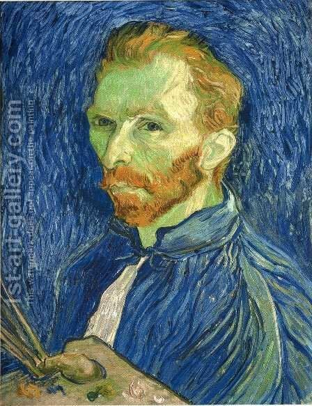 Self Portrait with Pallette by Vincent Van Gogh - Reproduction Oil Painting