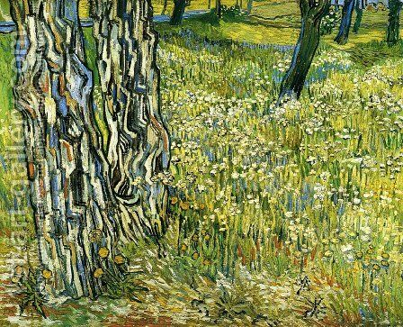 Tree Trunks in the Grass by Vincent Van Gogh - Reproduction Oil Painting