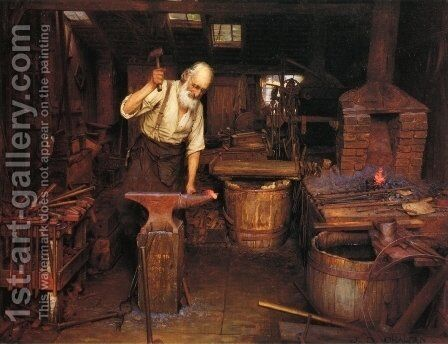 The Blacksmith by Jefferson David Chalfant - Reproduction Oil Painting