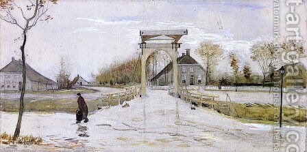 Drawbridge in Nieuw-Amsterdam by Vincent Van Gogh - Reproduction Oil Painting