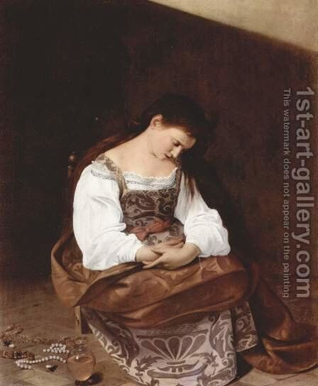 Penitent Magdalen by Caravaggio - Reproduction Oil Painting