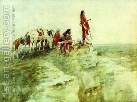 Medicine Rock I by Charles Marion Russell - Reproduction Oil Painting