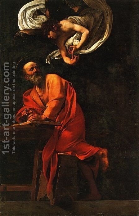 St. Matthew and the Angel by Caravaggio - Reproduction Oil Painting