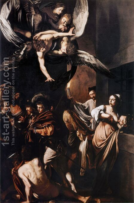 Seven Works of Mercy by Caravaggio - Reproduction Oil Painting