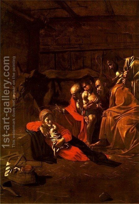 The Adoration of the Shepherds by Caravaggio - Reproduction Oil Painting