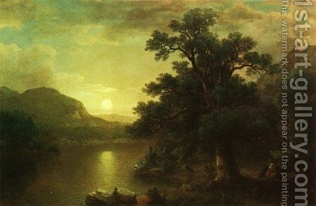 The Trysting Tree by Asher Brown Durand - Reproduction Oil Painting