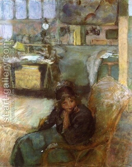 The Studio by Edouard  (Jean-Edouard) Vuillard - Reproduction Oil Painting
