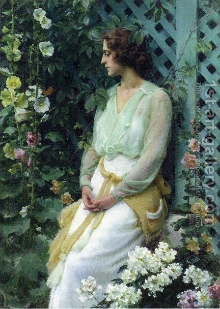 Green Lattice by Charles Curran - Reproduction Oil Painting