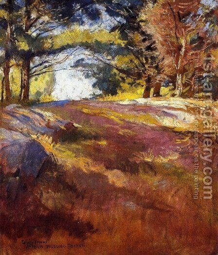 Study for 'On Bos'n's Hill by Edmund Charles Tarbell - Reproduction Oil Painting