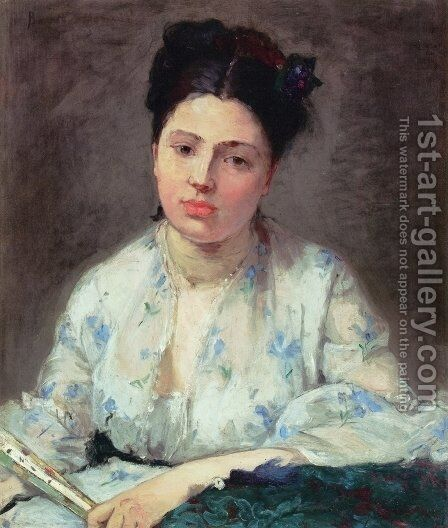 Young Woman I by Berthe Morisot - Reproduction Oil Painting