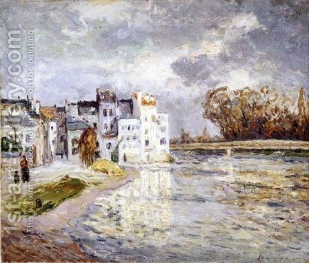 The Marne at Lagny by Maxime Maufra - Reproduction Oil Painting