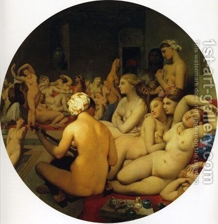 The Turkish Bath by Jean Auguste Dominique Ingres - Reproduction Oil Painting