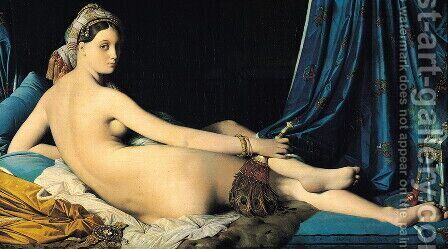 La Grande Odalisque by Jean Auguste Dominique Ingres - Reproduction Oil Painting
