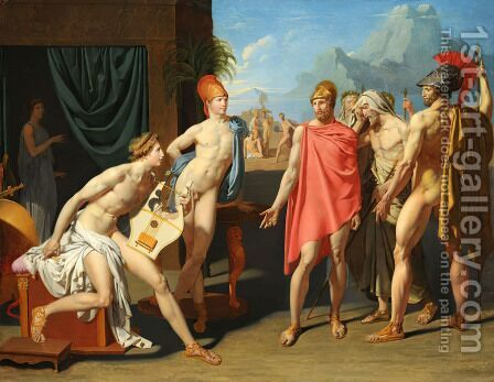 Achilles Receiving the Envoys of Agamemnon I by Jean Auguste Dominique Ingres - Reproduction Oil Painting