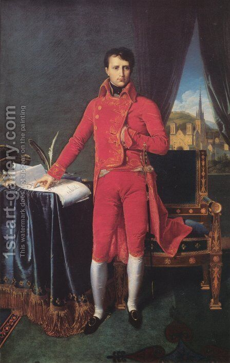 Napoleon Bonaparte in the Uniform of the First Consul by Jean Auguste Dominique Ingres - Reproduction Oil Painting