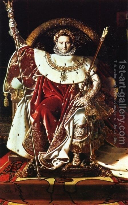 Napoleon as Jupiter Enthroned by Jean Auguste Dominique Ingres - Reproduction Oil Painting