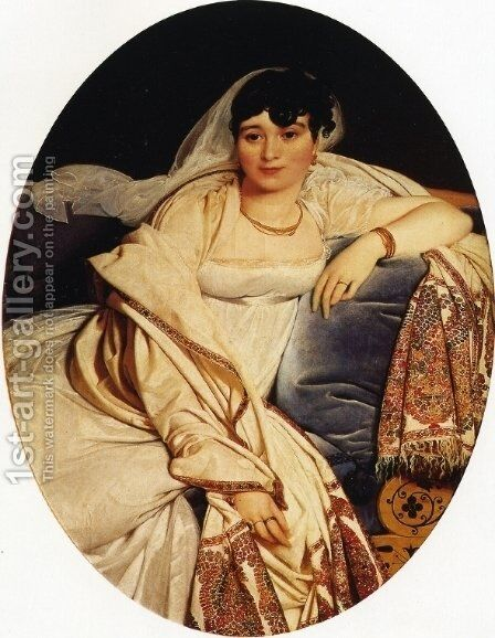Marie-Francoise Riviere by Jean Auguste Dominique Ingres - Reproduction Oil Painting