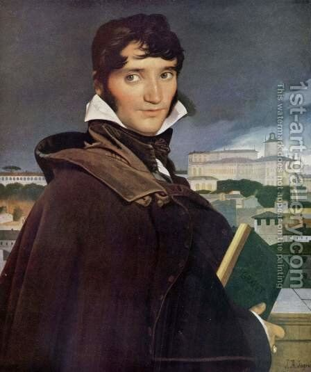 The Painter Francois-Marius Granet by Jean Auguste Dominique Ingres - Reproduction Oil Painting